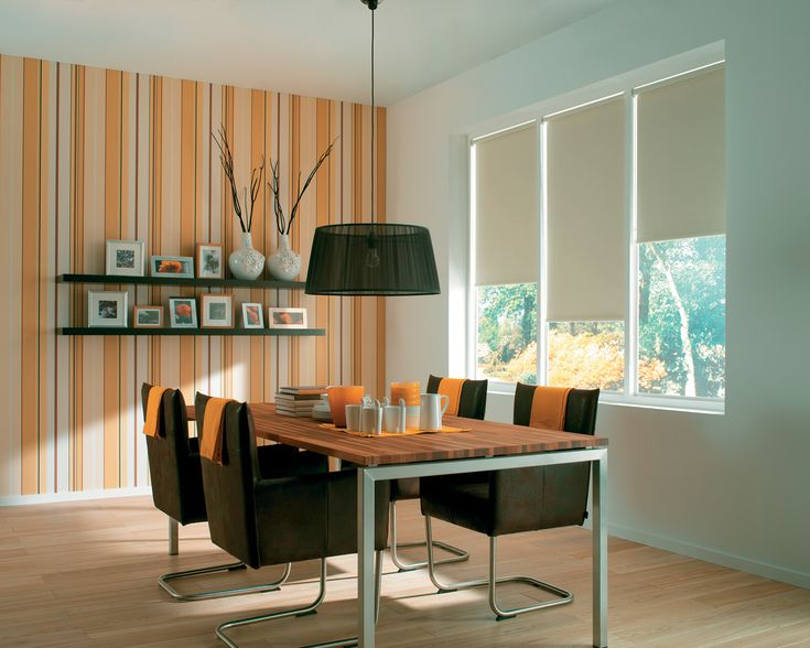 Roller blinds from Apollo Blinds.
