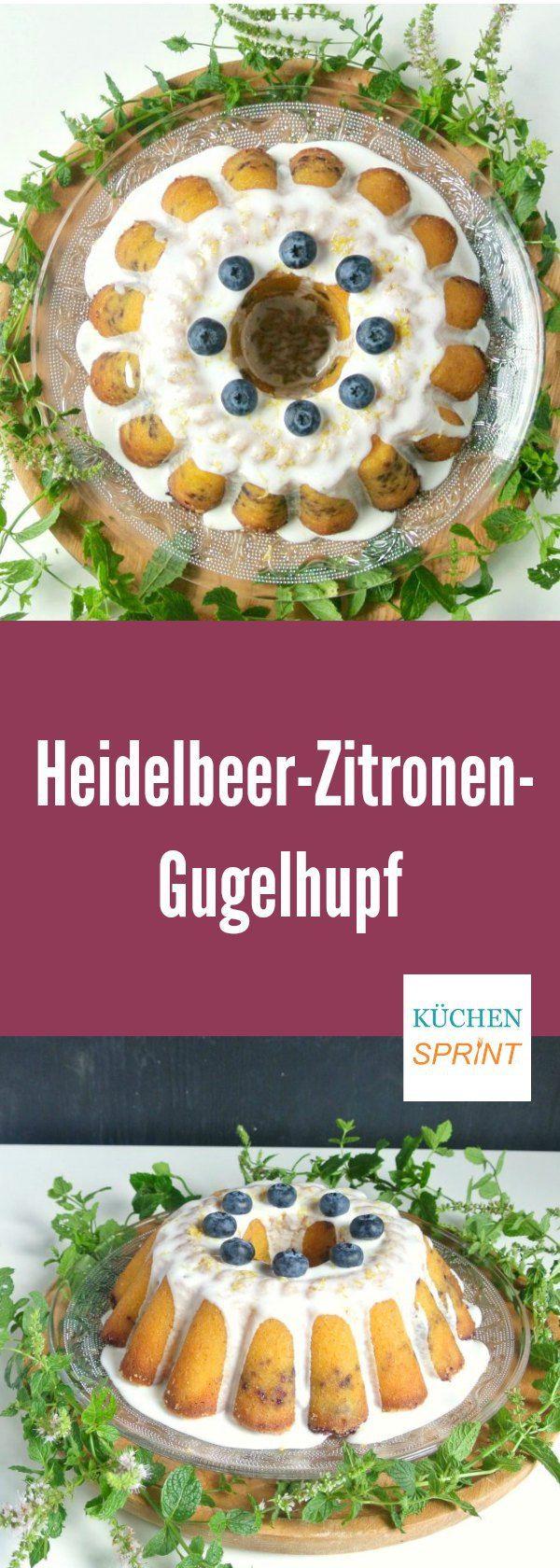 Heidelbeer-Zitronen-Gugelhupf - Heidelbeeren und Zitronen passen einfach wunderbar zusammen. Dieser saftige Gugelhupf ist der Beweis.