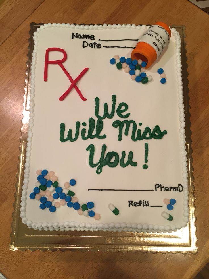 Goodbye Pharmacy Cake Retirement