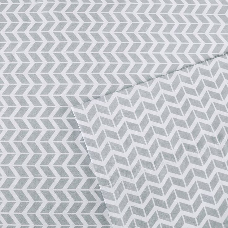 Intelligent Design Chevron Sheets, Grey Twin Xl