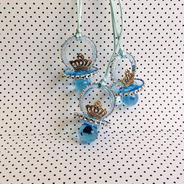 prince themed baby shower pacifier necklace baby blue