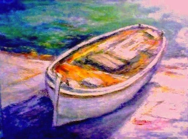 barca bianca al sole