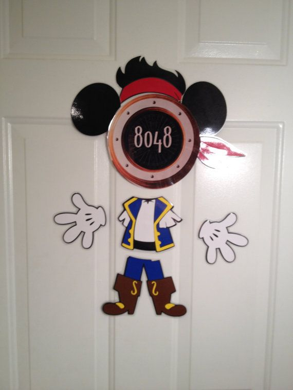 Mickey Mouse Body Part Stateroom Door Magnets For Disney