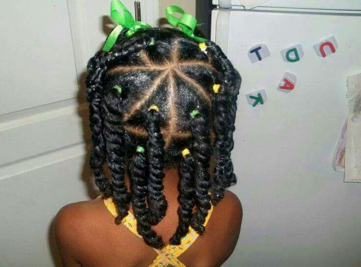 Twists With Rubber Bands Natural Hairstyles For Kids