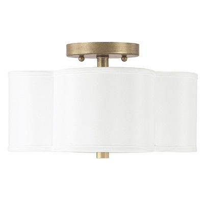 House of Hampton Scalloped Semi Flush Mount Maybe for ceiling lights in the hallways or bedroom?