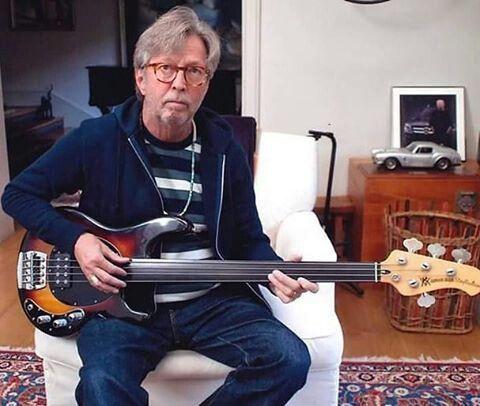 Eric on a fretless bass