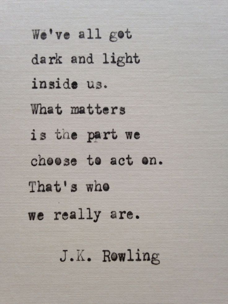 J.K. Rowling quote hand typed on antique typewriter