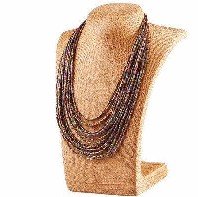 Personalized Bohemian Tassel Necklace Vintage Multilayer Beads Sweater Necklace - NewChic