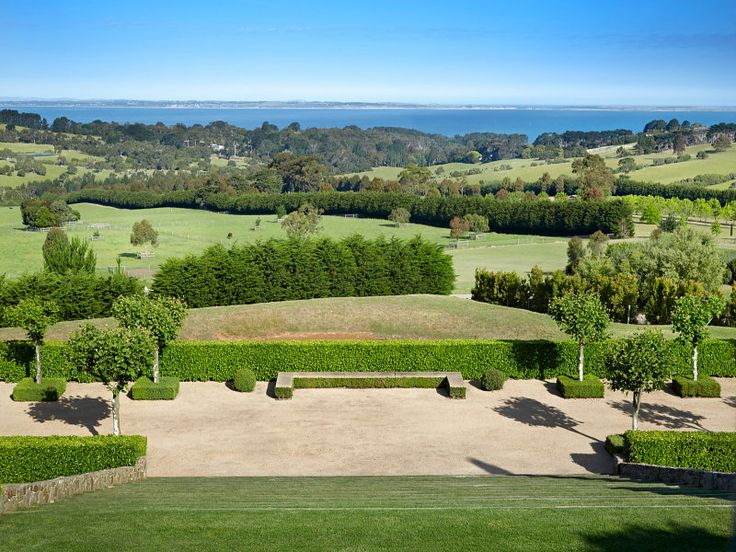 """Bagnols"" Shoreham, Vic. Paul Bangay Garden on 4.5 acres. I bet those steps are a pain to mow..."