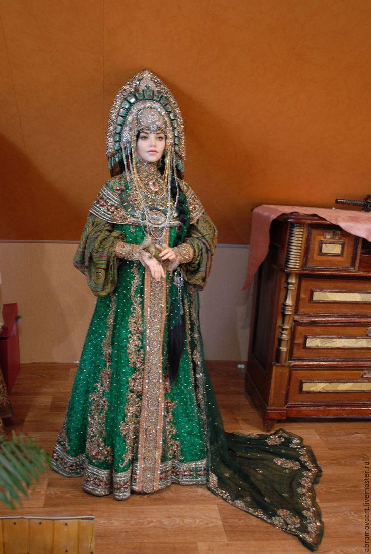 """Купить кукла""""Хозяйка Медной горы"""" - морская волна, кукла ручной работы, коллекционная кукла"""