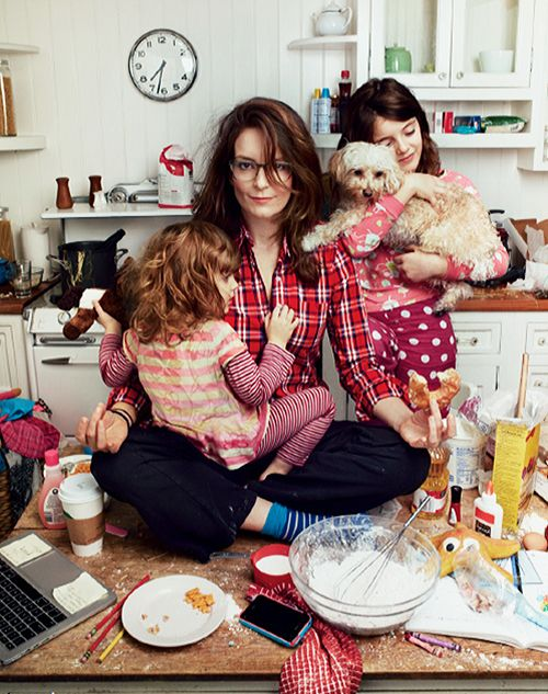 Happy Mother's Day: Love this pic of Tina Fey with daughters Penelope and Alice  #mothersday