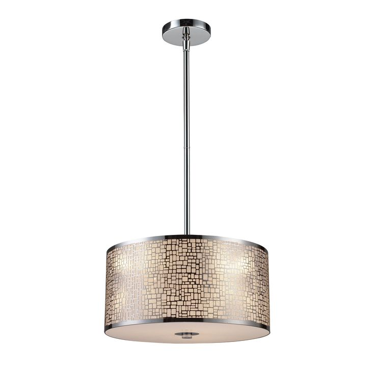 Medina 3 Light Pendant In Polished Stainless Steel 31042/3