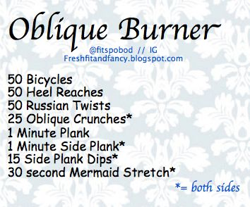 Oblique Workout! @Rayna Lerner Munn  @Courtney Baker Massaro tomorrow :)