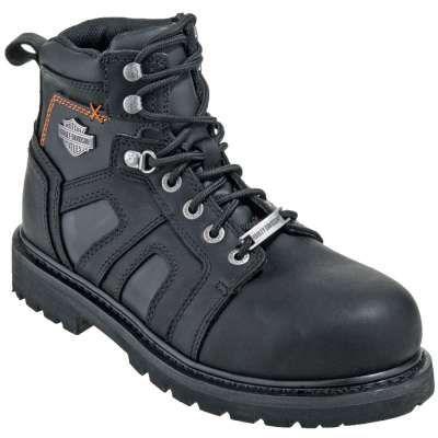 Harley Davidson Boots: Men's Steel Toe 93176 EH Motorcycle Work Boots