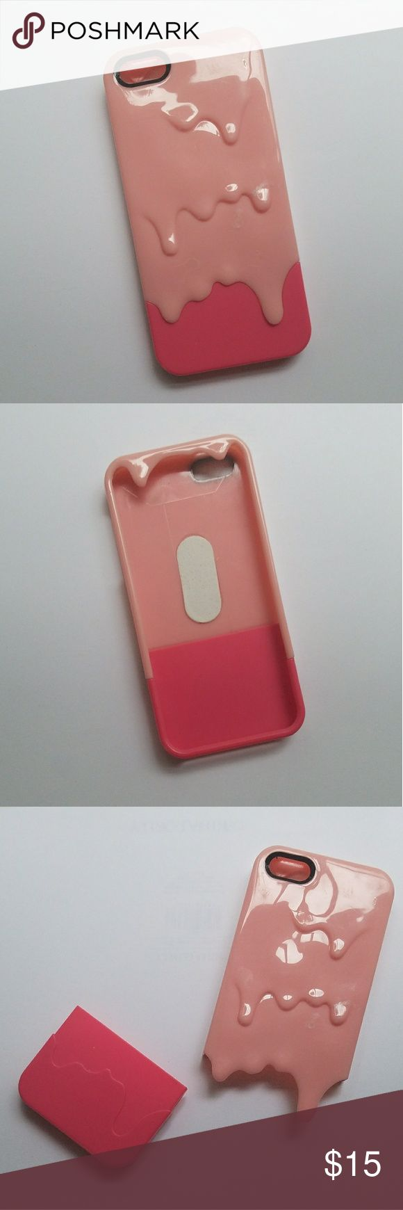 """iPhone 5S or 6 SE case Cute pink """"slime"""" case with interchangeable parts, fits iPhone 5S or iPhone 6 SE, lightly used Accessories Phone Cases"""