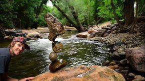 Stone Balance Demonstration by Michael Grab (Gravity Glue) - 1409 - September…
