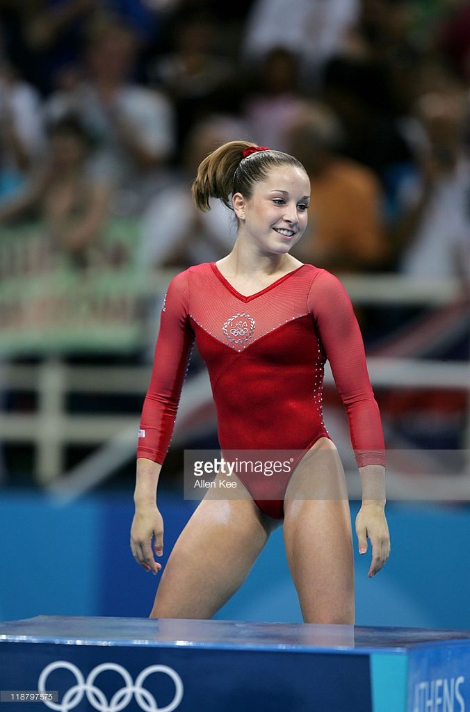 Carly Patterson of the United States wins gold in the Women's Individual All-Around in the Olympic Indoor Hall at the Athens 2004 Olympic Games in Athens, Greece, August 19, 2004.