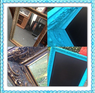 MUST DO!! DIY Chalkboard Frame-frame from hobby lobby, kirklands, GOODWILL!