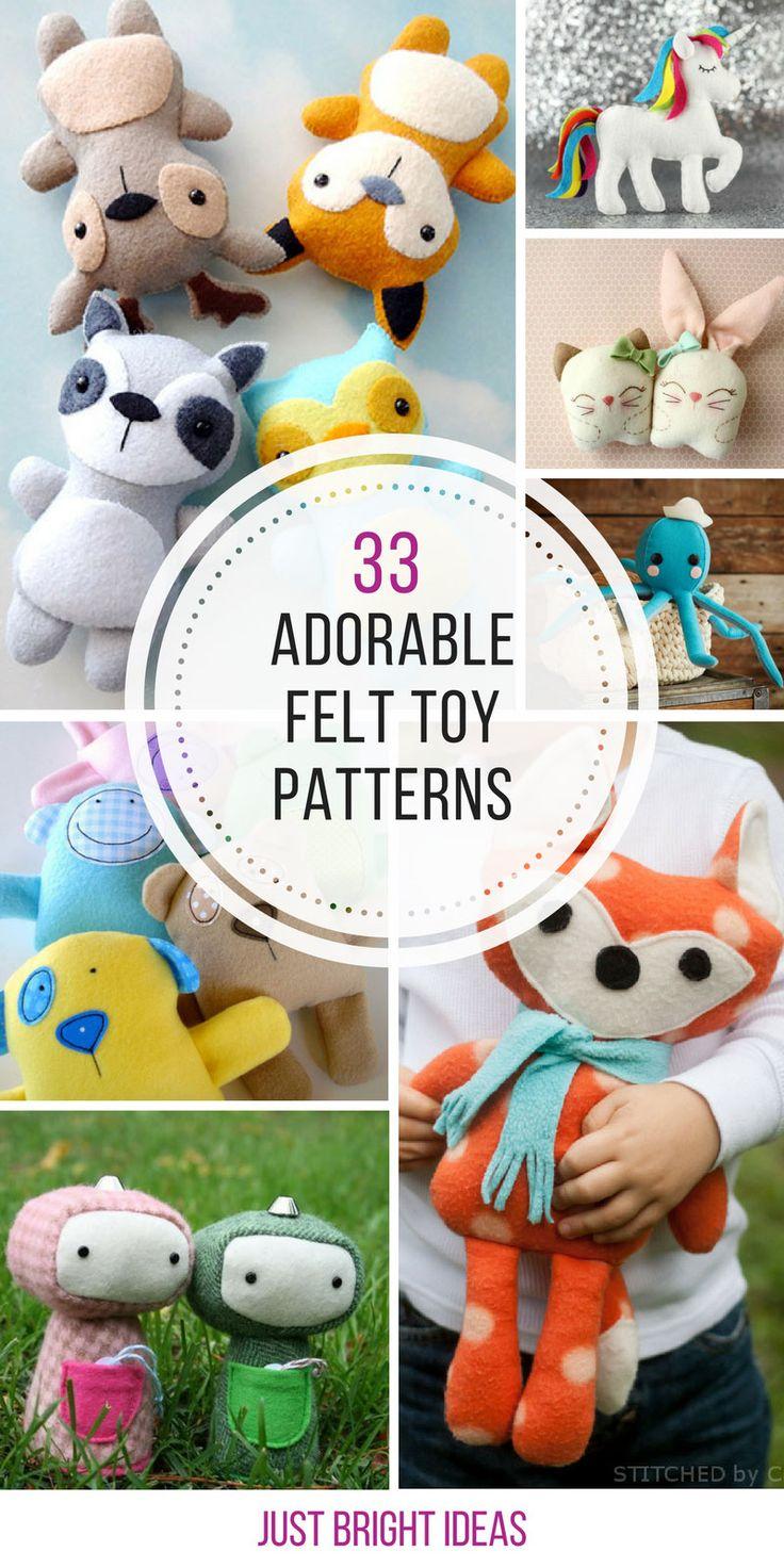 Super süße Filzspielzeugmuster, mit denen Ihre Kinder gerne spielen!  – plushies, huggies, dollies