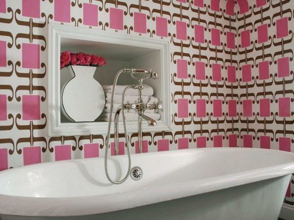 wallpaper pattern bathroom wall wallpaper fresh pattern bathtub