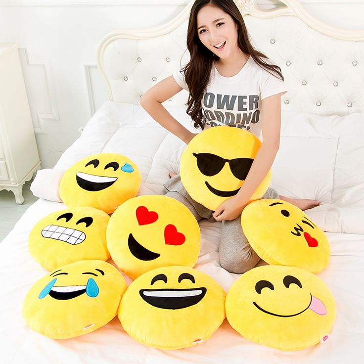 Funny Cute emoji pillow plush pillow coussin cojines emoji gato Round Cushion emoticonos smiley Pillows Stuffed Plush almofada #>=#>=#>=#>=#> Click on the pin to check out discount price, color, size, shipping, etc. Save and like it!