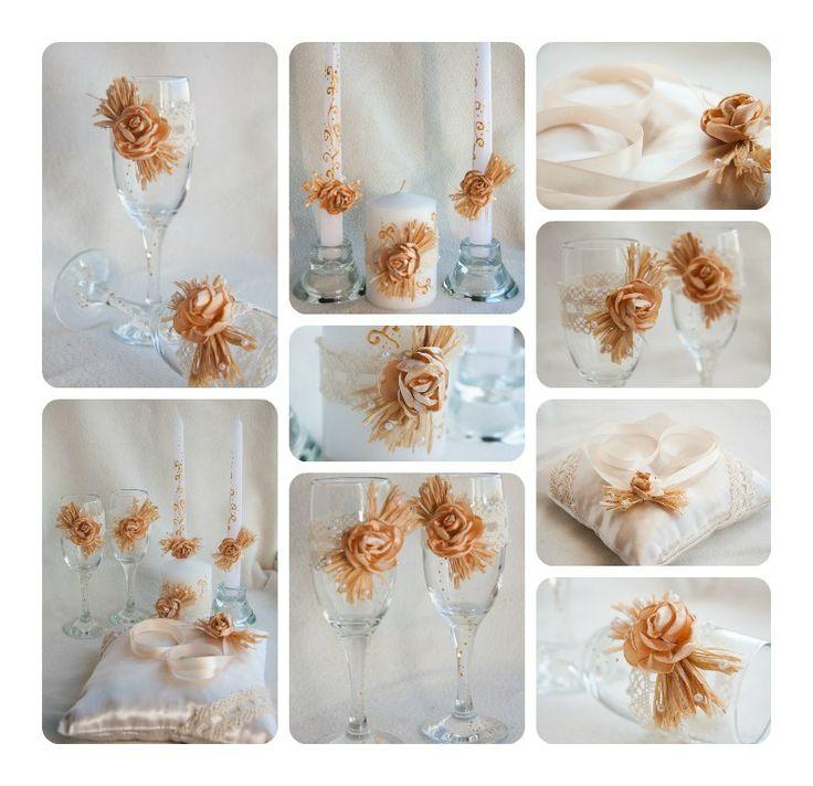 комплект свадебных аксессуаров айвори