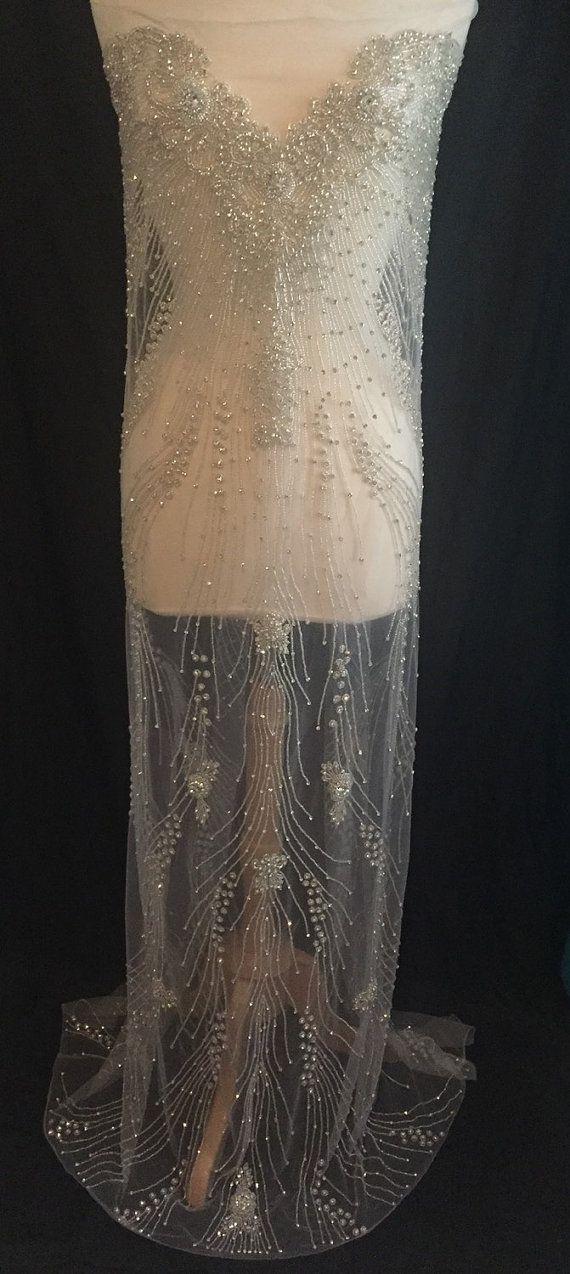 Rhinestone Beaded  Full Length Crystal Wedding Panel by KatLabel 400$