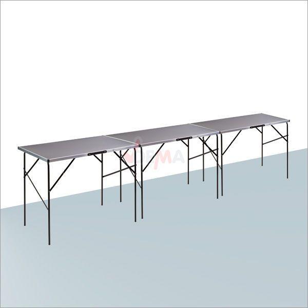 3 x Tapeziertisch / Flohmarkttisch / je 100 cm x 60 cm 78 cm hoch Klappbar 17240