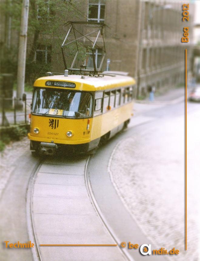 older Tram in Dresden/Germany