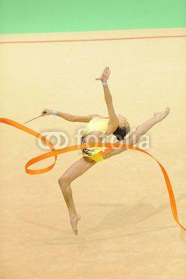 rhythmic gymnastics with ribbon