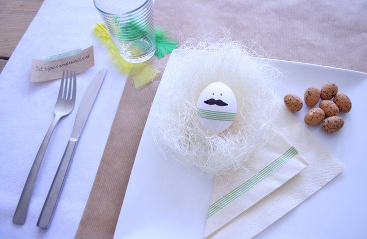 Paas DIY: Mr. Moustache #easter #pasen #egg #paasei