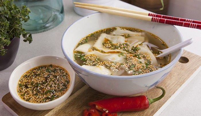 Zhong Shui Jiao (Dumplings with Red Oil)   Good Chef Bad Chef