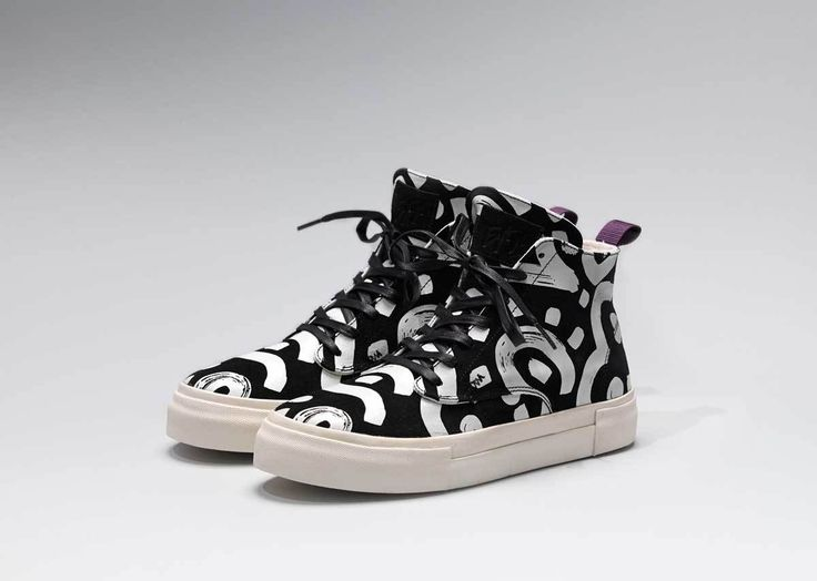 #Eytys x 10 Corso Como Odyssey Suede Sneakers with artwork based on Jessica Hans's signature sculptures.