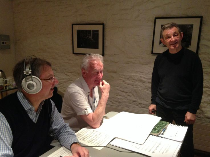 Recording at St George's Bristol for the Academy's series on Linn Records: Jonathan Freeman-Attwood, Richard Stokes and Trevor Pinnock. © Royal Academy of Music, February 2014.