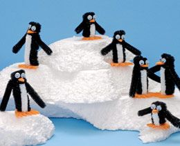 Pipe cleaner penguins.