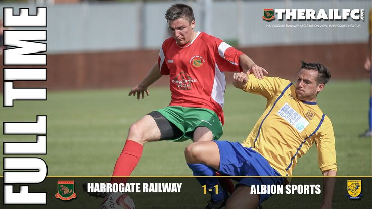 FT: Harrogate Railway 1-1 Albion Sports    @therailfc #NCEL