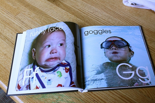 Made a photo ABC book of my own! The kids (and hubby) love it.