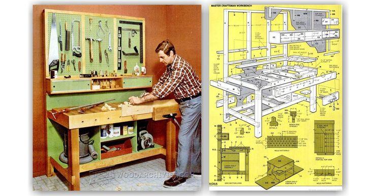 Garage Workbench Plans - Workshop Solutions Plans, Tips and Tricks | WoodArchivist.com
