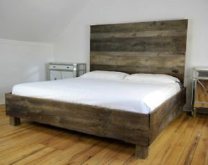 Best Lits Images On Pinterest Beds Reclaimed Wood Beds And - Lit double kijiji montreal