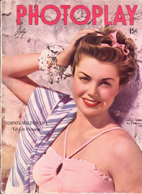 Esther Williams on the cover of Photoplay, July 1946