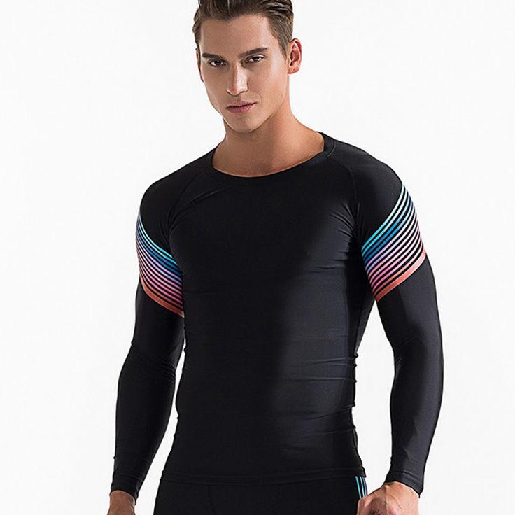 Mannen Compressie Shirt Fitness Jogger Oefening Kleren Rashguard Fashion Casual Gewichtheffen Lange Mouwen T-Shirt