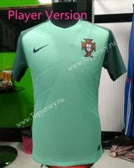 2016 European Cup Portugal Away Green Tailand Soccer Jersey Player Version