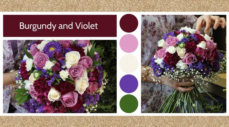 Burgundy & Violet style board by Le Bouquet Weddings | Le Bouquet St-Laurent Florist