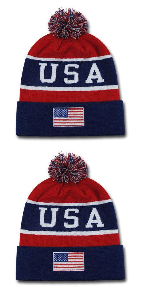 6d50393d296 Hats 163543  Patriotic Usa Flag Beanies Toboggan American Team Colors  Winter Caps Hats -  BUY IT NOW ONLY   12.95 on  eBay  patriotic  beanies   toboggan ...