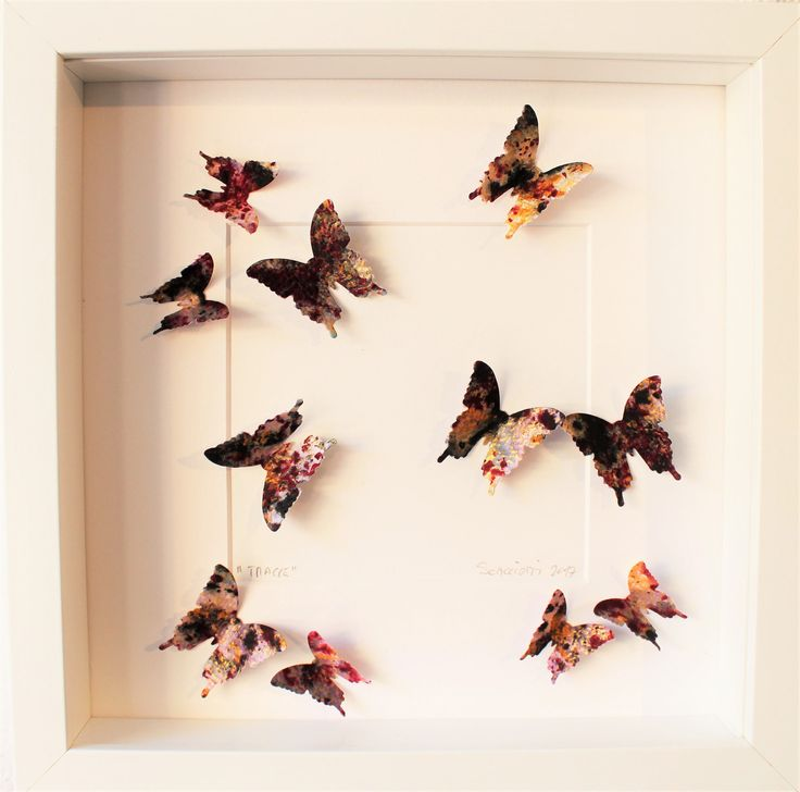 Butterfly painting. Each of Andrea Scacciotti's traces is a unique piece, resulting from a brillant concept and painstaking craft. di ExcellentArtWork su Etsy