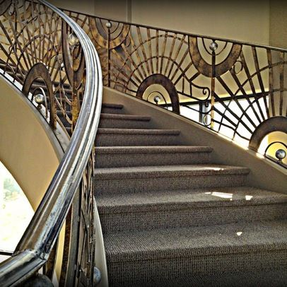Beautiful Art Deco Staircase   Google Search