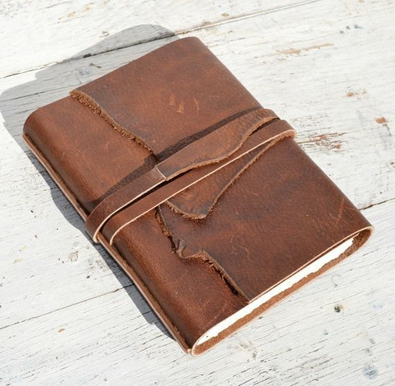 Handmade Leather Bound Cowboy Journal Western Travel Diary Bandana Copper Art Notebook (148)