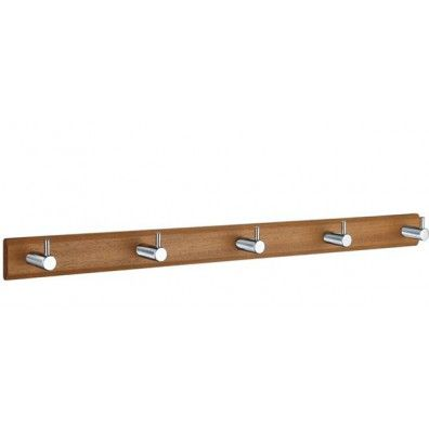 Smedbo Hakenleiste Holz/Edelstahl 5-Fach; Holz gebeitzt B1071
