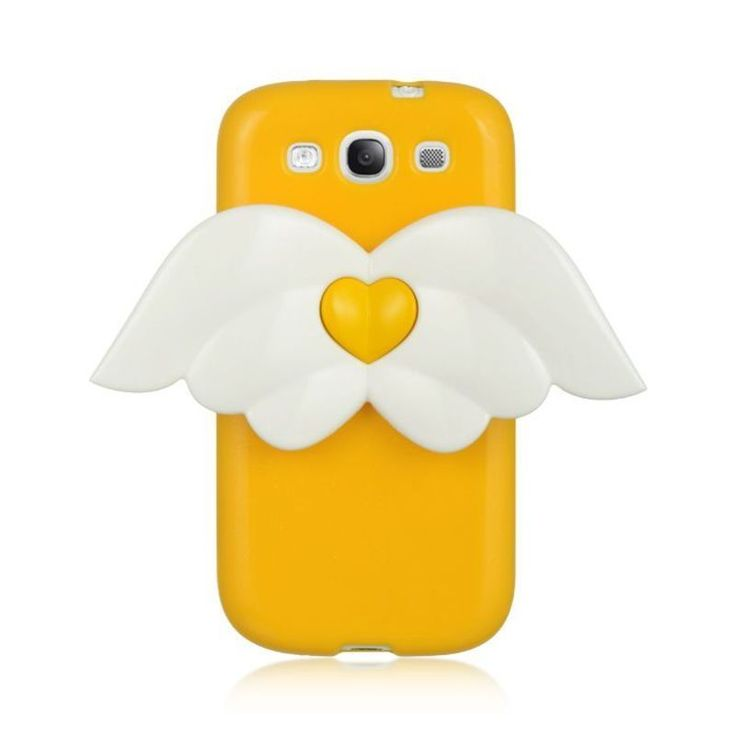 Insten Yellow/ 3D Angel Hard Snap-on Case Cover For Samsung Galaxy S3 I747