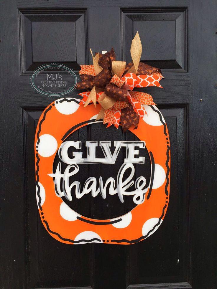 Best 25+ Pumpkin door hanger ideas on Pinterest | Chevron pumpkin Happy fall yall pumpkin and Autumn decorations & Best 25+ Pumpkin door hanger ideas on Pinterest | Chevron pumpkin ... Pezcame.Com